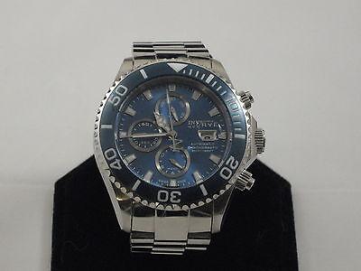 Invicta Reserve Men's Pro Diver Swiss Valjoux 7750 Chrono Brac 1066 BLUE DIAL