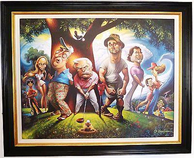 "NEW David O'Keefe Framed Caddyshack Bushwood Print 22"" x 28"" ready to hang"