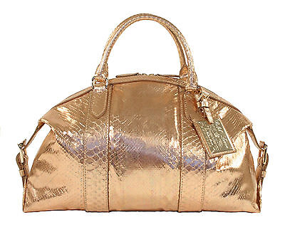 Metallic Boston Bag - Ralph Lauren Purple Label Metallic Python Boston Bag Satchel New $3950