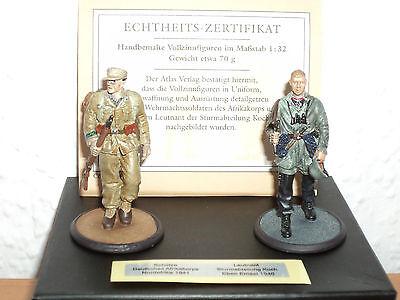 ATLAS Collection Vollzinnfiguren Wehrmacht Schütze 1941/ Leutnant 1940  1:32