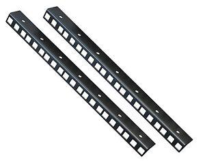 7U RACK STRIP RAIL PAIR MADE FROM 1.2mm MILD STEEL  24.2mm x 19.2mm