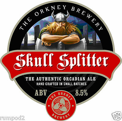 Beer Poster/Micro Craft Beer/Skull Splitter Beer Poster / Orkney Brewery