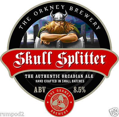 Beer Poster/Micro Craft Beer/Skull Splitter Beer Poster / Orkney Brewery