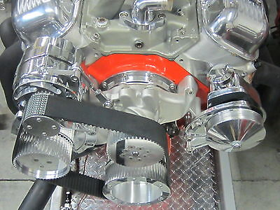 Billet BBC Chevelle, Camaro, Nova Pulleys & Brackets with AC.& Power Steering
