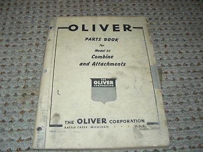 Oliver Tractor Model 35 Combine Operators Manual