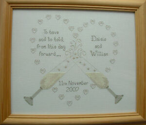 To Have Hold Wg1 Wedding Sampler Cross Sch Kit Ideal Gift