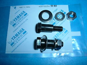 YAMAHA RT1, DT1, CT1, AT1  TAIL LIGHT TO REAR FENDER SHOULDER BOLTS PLUS (NOS)**