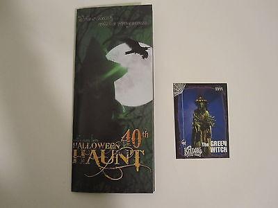 KNOTTS BERRY SCARY FARM HALLOWEEN HAUNT 2011 GREEN WITCH CARD + BROCHURE 40th  (Halloween Haunt Green Witch)