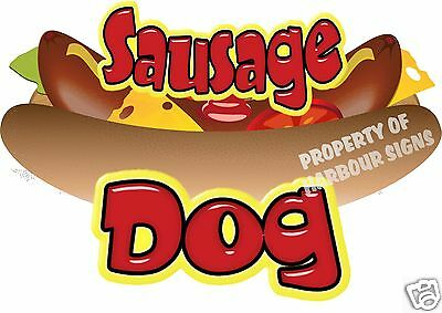 Sausage Dog Decal 12 Hot Dog Cart Concession Food Truck Van Stand Vinyl Sticker
