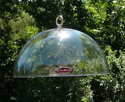 "Squirrel Proof Any Bird Feeder 12"" Hanging Protective Clear Poly Dome Baffle"