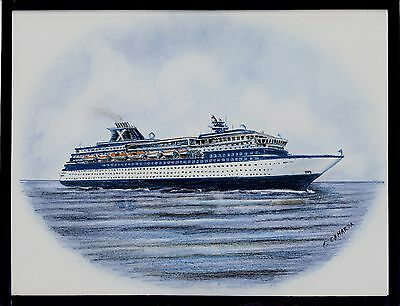 Original Art Work    Ms Zenith    Cruise Ship   Celebrity Cruises