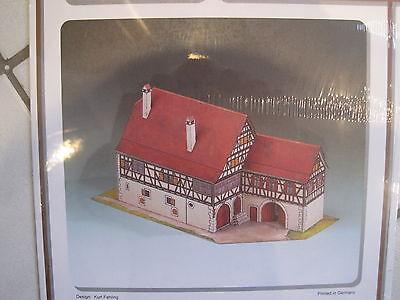 Bauernhaus Tamm 1:120  Kartonbausatz Bastelbogen *NEU* (Weiße Bau Papier)