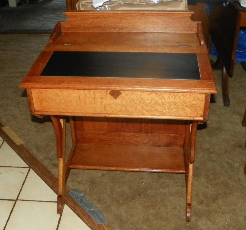 Quartersawn Oak Slant Top Desk  (DR15)