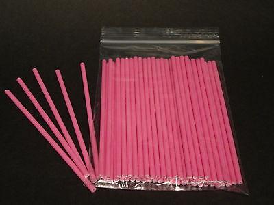 Pink Lollipop Sticks (50 X 4.5