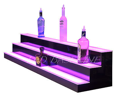 74 Lighted Bar Shelf 3 Steps Led Liquor Bottle Glorifier Back Bar Shelving