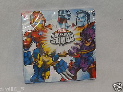 NEW MARVEL SUPER HERO SQUAD DESSERT  NAPKINS  PARTY SUPPLIES   (Super Hero Squad Party Supplies)