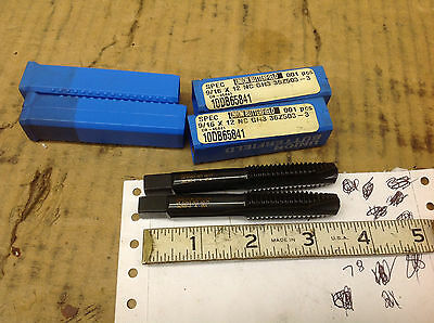 DB-60108 5-Piece  UB 9//16-12 NC GH3 HSS 3-Flute Spiral Point Hand Tap DB60108