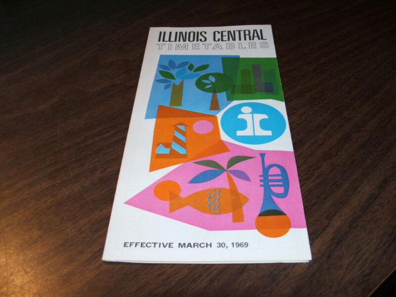 MARCH 1969 ILLINOIS CENTRAL RAILROAD PUBLIC TIMETABLE