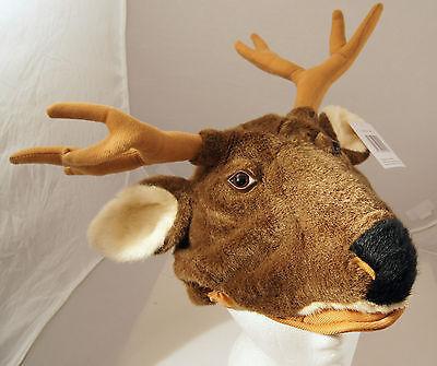 DEER HAT Halloween Costume FLOPPY ANTLERS Adult PLUSH moose reindeer caribou cap - Reindeer Antler Hat