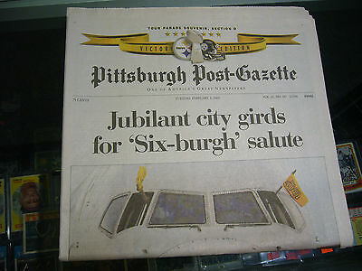 2 3 2009 Pittsburgh Post Gazette Steelers Super Bowl Champs Newspaper Parade