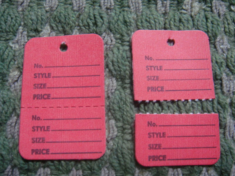 Clothing Price Tagging Tag Tagger Gun Hang Label Red