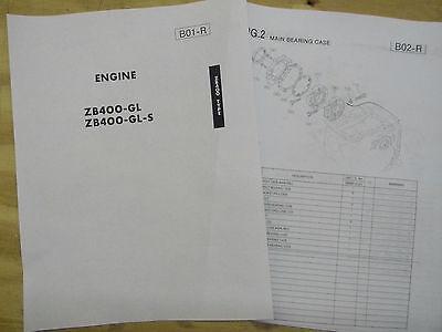 Kubota Diesel Engine Zb400 Parts Book