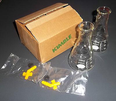 Filter Flasks 250 Ml Pack Of 2 Kimble Kimax Nib 27065 Filtration Filtering