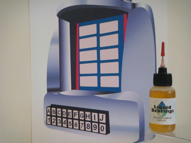 Liquid Bearings, BEST 100%-synthetic oil for Seeburg jukeboxes, PLEASE READ!!