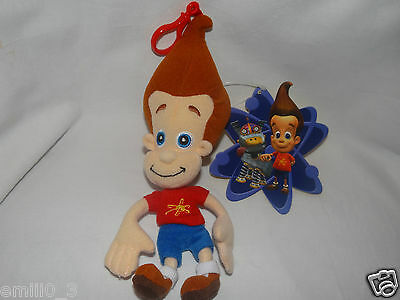 """NEW WITH TAGS  JIMMY NEUTRON PLUSH CLIP 9"""" FOR BACKPACKS NICKOLODEON"""