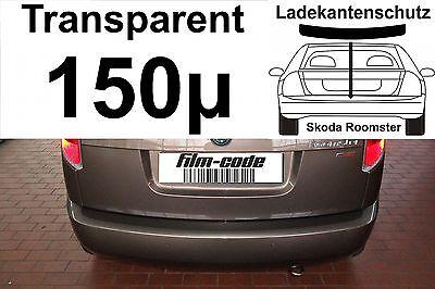 Lackschutzfolie Ladekantenschutz für Skoda Roomster transparent 150µ