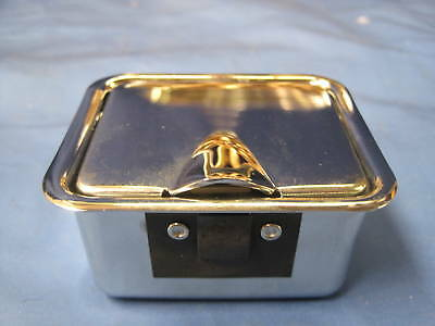MG    BRAND NEW MGB CENTRE CONSOLE CHROME LIDDED ASHTRAY               vw16