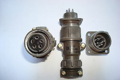 5-pin Ussr Military Connector Plug Male Female Set 1pcs.