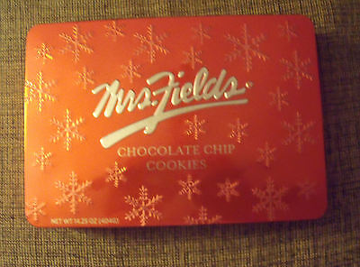 -  Decorative Vintage MRS. FIELDS Christmas Tin  Collectible Box Container Vintage