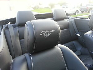 2018 FORD MUSTANG HEADREST OUTLINED PONY DECALS - ONLY LEATHER SEATS 15-17