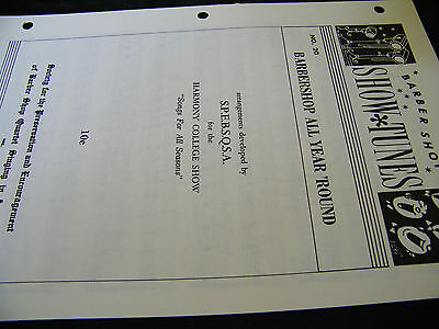 SHEET MUSIC BARBER SHOP SHOW TUNES BARBERSHOP ALL YEAR 'ROUND  BY SPEBSQSA