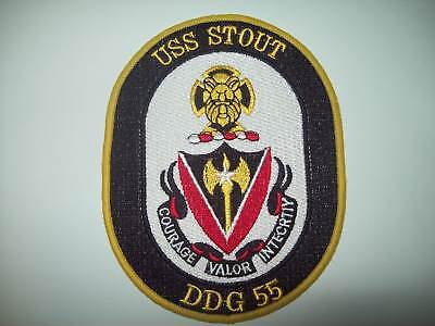 DDG-55 USS Stout Guided Missile Destroyer Military Patch