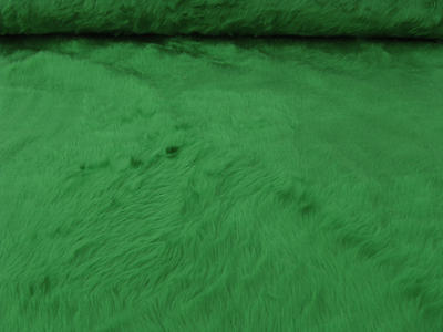 Plüsch Plüschstoff grün Fellstoff grün Teddystoff Fell grün Meterware Kunstfell