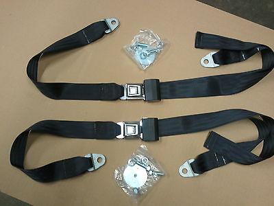 Black lap seatbelts cheverlot gmc truck van c10 c20 c30 apache silverado pick up for sale  Shipping to Canada