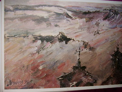 """HILLS IN MIST - TOLEDO "" - DAVID BOMBERG POST CARD"