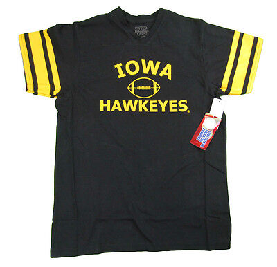 Black Iowa Hawkeyes Football Jersey - IOWA HAWKEYES YOUTH BLACK FOOTBALL JERSEY STYLE T-SHIRT NWT