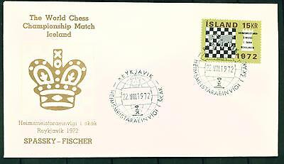 Iceland Chess FDC Cover Fisher Spassky Match of the Century 1972 Special Cancel