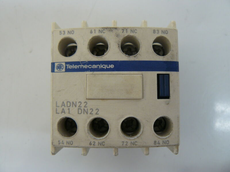 TELEMECANIQUE LADN22 CONTACTOR AUXILIARY CONTACT BLOCK IEC