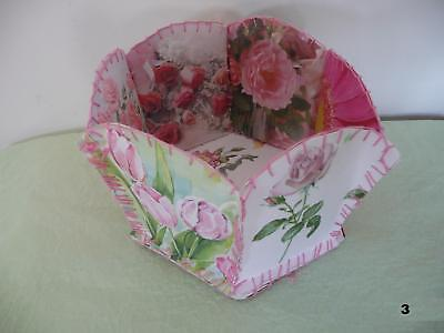 HAND MADE ALL OCCASION FLORAL GREETING CARD BASKETS -PERFECT CHRISTMAS GIFT