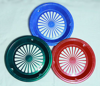 6 GREEN, RED, and BLUE PAPER PLATE HOLDERS, PICNIC, BBQ,  PARTIES, & CAMPING](Blue And Green Paper Plates)