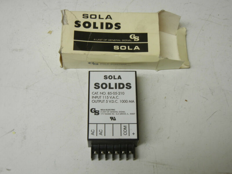 SOLA ELECTRIC 85-05-210 NEW POWER SUPPLY 8505210