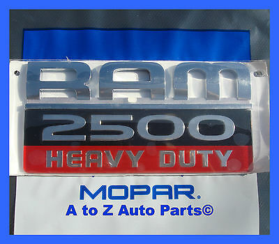 NEW 2007-2012 Dodge Ram 2500 HEAVY DUTY Door Emblem, Cummins Diesel, OE Mopar