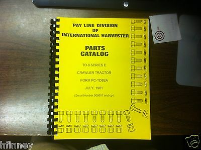 Ih Dresser Td8e Crawler Tractor Parts Book Manual Pc-td8ea High Sn 9501 Up New