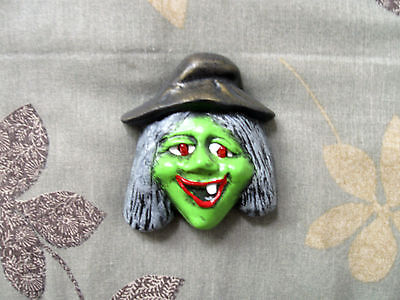 Handcrafted Musical Ceramic Halloween Witch Flashing Blinking Eyes Pin](Halloween Witches Music)