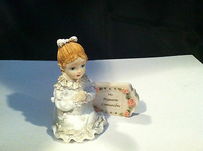 VINTAGE MI PRIMERA COMUNION FIRST COMMUNION #1 GIRL FIGURINE GIFT PRESENT](First Communion Present)