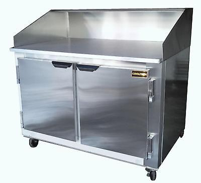 48 New Us-made Two 2 Door Refrigerated Dough Retarader Pizza Prep Table